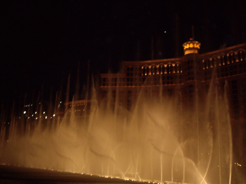 Bellagio Fountain with Lights