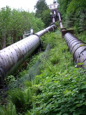 Penstocks at Snoqualmie Falls