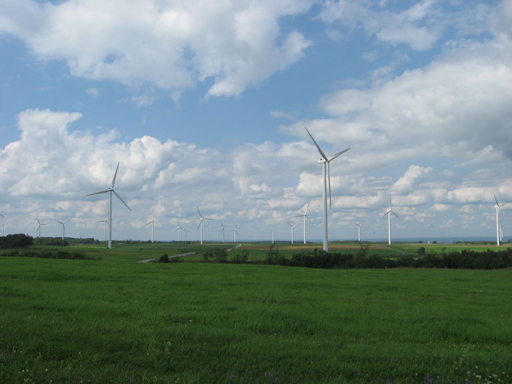 Multiple Wind Turbines Tug Hill Plateau