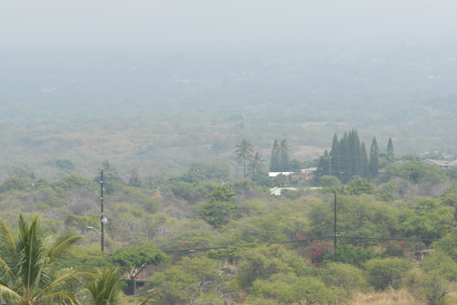 The view toward Kona through the vog