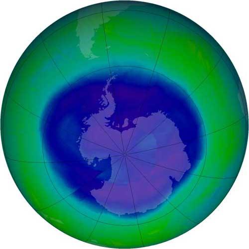 NASA Ozone Hole September 2008