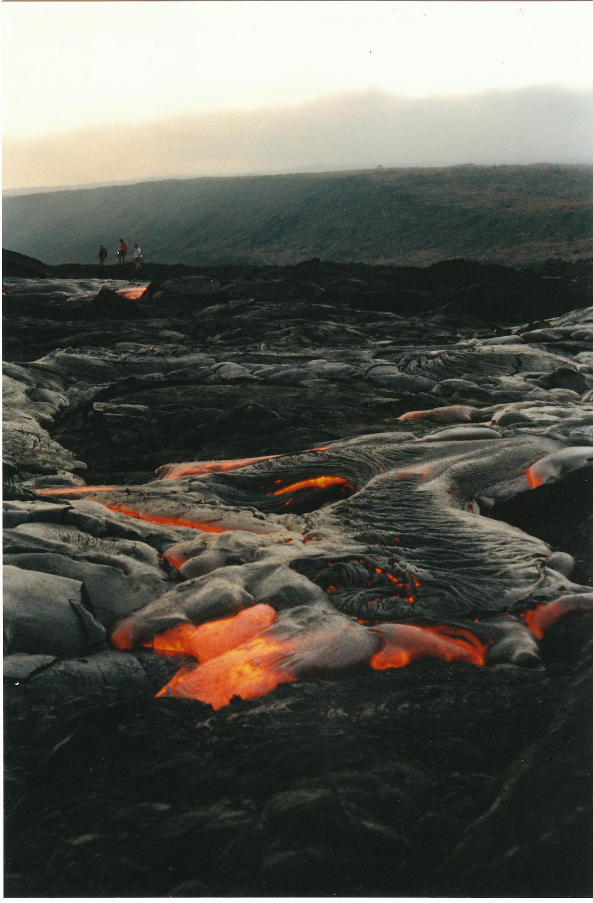 Lava flow, Kilauea 2002