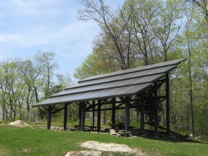 This solar array also provides shade for the picnic area.