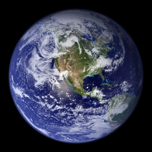NASA in 2008: the Blue Marble